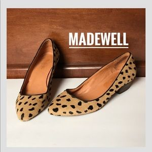 Madewell Animal Print Calf Hair Flats Low Pumps